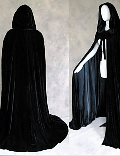Black Halloween Hooded Cape MEDIEVAL Wedding Cloak Coat Shawl
