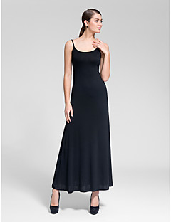 Cocktail Party Dress - Ruby/Black Sheath/Column Scoop Floor-length Polyester