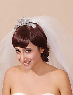 Wedding Veil with Tiara Three-tier Headpieces with Veil Pencil Edge