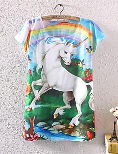 T-Shirt Da donna Manica corta Cotone/Poliestere/Licra