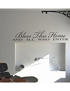 velsigne denne boligmontering citerer Vægoverføringsbilleder zy8091 dekorative adesivo de Parede aftagelig vinyl wall stickers
