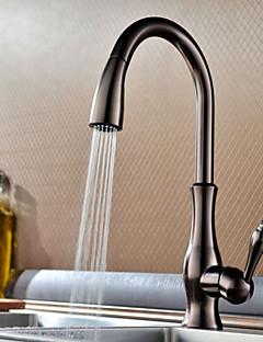 Bucătărie Robinet Art Deco / Retro Sprey Detașabil Alamă Bronz patinat