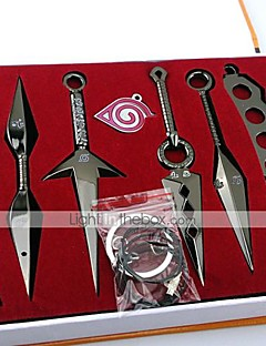 Naruto Momochi Zabuza Kunai Weapons 7 Pieces Cosplay Accessories Set