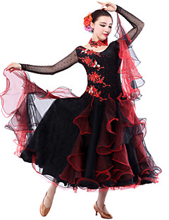 High-quality Spandex/Tulle with Rhinestones Modern Performance Dresses
