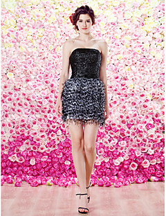 TS Couture Cocktail Party Dress - A-line Strapless Short/Mini Sequined