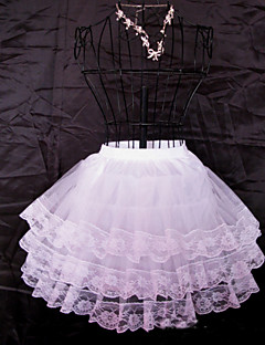 Slips Ball Gown Slip Knee-Length 3 Tulle Netting White