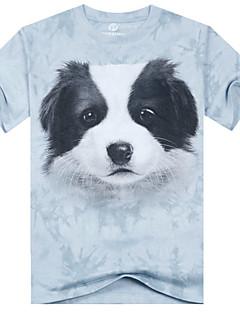 Vintage/Strand/Informell/Bedruckt/Party/Business Rund - Kurzarm - MEN - T-Shirts ( Baumwolle )