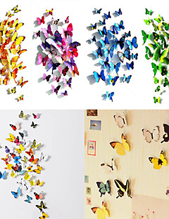 Animals / 3D Wall Stickers 3D Wall Stickers Decorative Wall Stickers / Fridge Stickers,PVC Material Re-Positionable Home DecorationWall