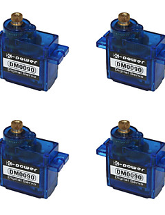 k-power dm0090 metal gear digital servo til 450 klasse helikopter og flyvemaskine 4-pack