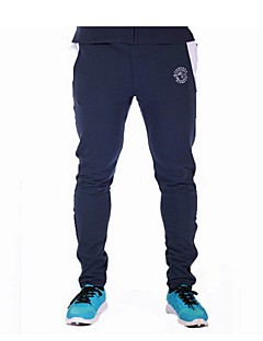 Men's Print / Striped / Solid Casual / Work / Formal / Sport Sweatpants,Polyester Black / Blue / Gray