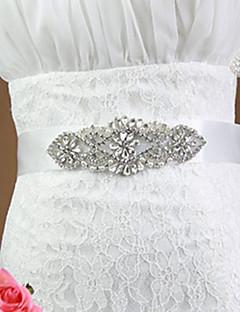 Satin Wedding/Party Bride Fashion Sash With Rhinestone
