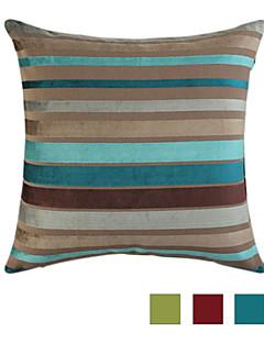"""moderne de 18 """"en polyester rayé carré / coton taie d'oreiller en chenille / oreiller / couverture traditionnelle / classique / oreiller"""