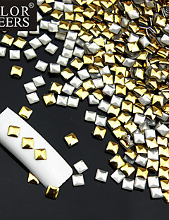 50PCS Golden & Silver Mixed Rivet Nagelkunstdekorationen