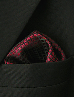 UH25 Shlax&Wing Solid Red Pocket Square Mens Hankies Hanky
