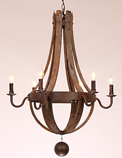 Ecolight® Chandelier/6 lights/Vintage/Retro/Country Living/Dining/Kitchen/Study/Office/Entry/Hallway/Garage Metal