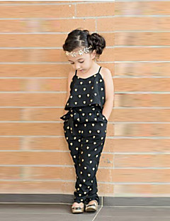 Girl's Overall & Jumpsuit Cotton Blend Summer / Spring