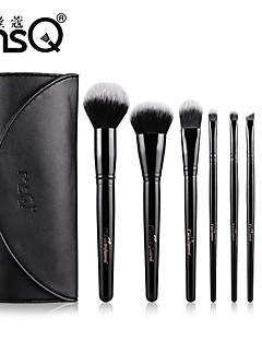 msq® 8 stuks rayon zwarte make-up kwast sets