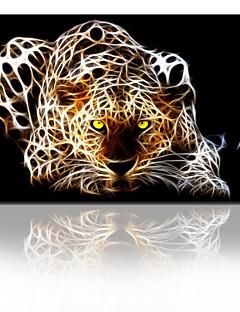 visuelle star® Leoparden fantastischen Segeltuchwandbild Kunst für Wohnzimmer fertig zum Aufhängen