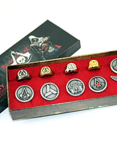 תכשיטים / תג קיבל השראה מ Assassin's Creed Connor אנימה / משחקי וידאו אביזרי קוספליי תג כסף סגסוגת זכר