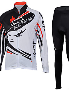 CHEJI® Cycling Jersey with Tights Women's Long Sleeve BikeBreathable / Quick Dry / Ultraviolet Resistant / Insulated / Moisture