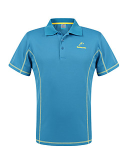 Summer Men Stand Collar Short Sleeve Quick Dry Breathable Outdoor Sporting T-Shirts