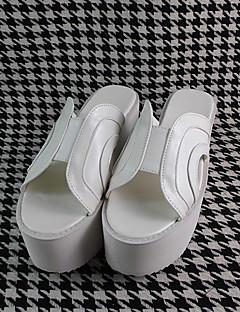 Handmade White 8cm High Heel Classic Lolita Shoes