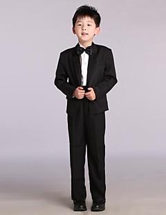 Cotton / Satin Ring Bearer Suit - 4 Pieces Includes  Jacket / Shirt / Pants / Bow Tie
