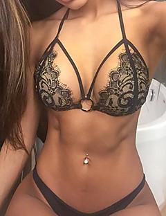 Damen Bikinis - Einfarbig Drahtlos Spitze / Nylon Halfter