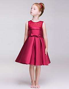 Blumenmädchen Kleid - Polyester - A-Linie - knielang - Ärmellos