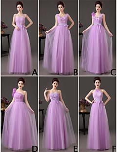 mix& match kjoler gulvlang tyl 6 stilarter brudepige kjoler (3789797)
