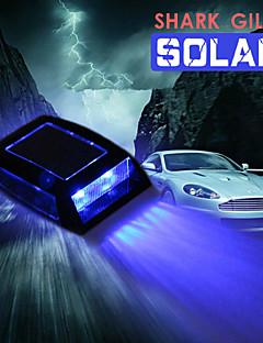 Car Shark Gills Solar Car Top Solar Flash Lights LED Gill Lamp Warning Light Roof Lamp Auto Supplies Shark Design