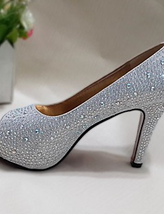 Women's Shoes Glitter Spring / Summer / Fall Heels / Peep Toe Wedding / Casual / Party & Evening Stiletto HeelCrystal / Sequin /