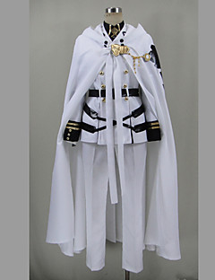 Inspired by Seraph of the End Cosplay Anime Cosplay Costumes Cosplay Suits Patchwork White 3/4-Length SleeveTop / Shirt / Skirt / Belt /