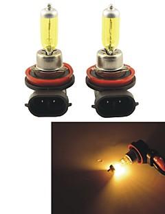 2pcs carking ™ Kobo H8 / H11 550lm 3000k auto luce gialla Fari alogeni (dc 12v)