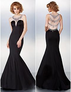 드레스 - 블랙 트럼펫/멀메이드 스위프/브러쉬 트레인 스쿱 쉬폰/명주그물