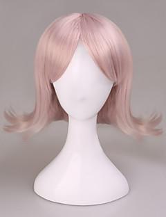 Super Dangan Ronpa 2 Sayonara Zetsubou Gakuen Nanami Chiaki lolita Short Straight Pink Cosplay Wig