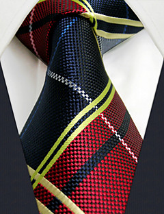 """U21 Shlax&Wing Red Blue Fashion Necktie Ties Checkered Dress 63"""" Extra Long Size"""