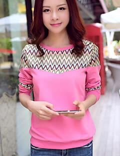 Women's Sweet Casual Print Round Collar Long Sleeve Hoodies
