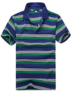 Men's Short Sleeve Cotton Casual Striped