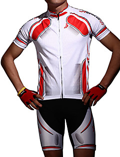 Acacia® חולצת ג'רסי ומכנס קצר לרכיבה יוניסקס שרוול קצר אופניים נושם / עיצוב אנטומי / עמיד לאבק / ללא תפרים / ללא חשמל סטטי / חומרים קלים