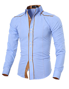 Men's Korean Fashion Personalized Slim Long-Sleeve Shirt