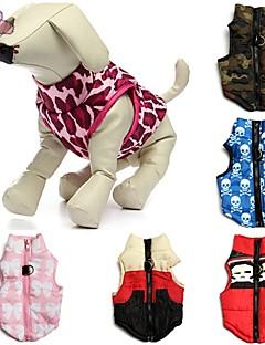Cat / Dog Coat / Shirt / T-Shirt / Vest Red / Green / Blue / Pink / Rose Dog Clothes Winter Skulls / Camouflage Wedding / Cosplay