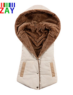 ZAY Women's Fashion All Match Hooded Sleeveless Parka Vest More Colors