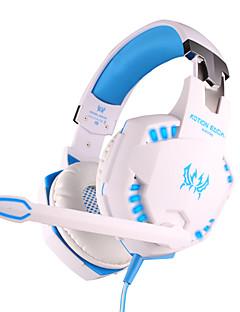 """כל אוזניות 3.5 מ""""מ g2100 קווית על שליטת רטט נפח משחקי אוזן עם מיקרופון למחשב"""