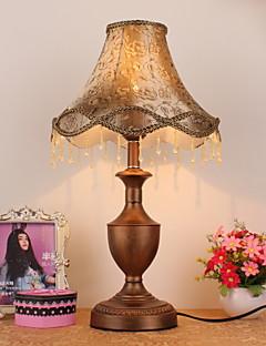 retrò stile europeo lampada da tavolo con paralume in tessuto elegante assolo 220-240v