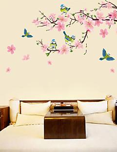 flor de durazno y los pájaros pegatinas de pared