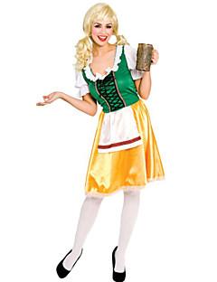 German Waitress Satin & Cotton Female Oktoberfest Costumes