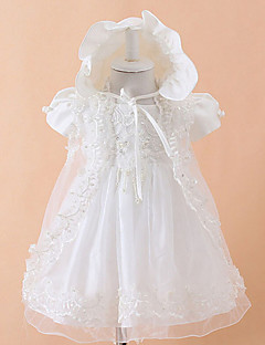 Hat+Clothing+Wedding shawls  3P A-line Tea-length Flower Baby Girl Dress - Cotton/Tulle/Polyester Sleeveless