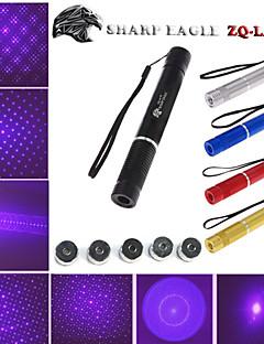 SHARP EAGLE ZQ-LV-Zo 405nm 5mw Purple Laser Pointer (Shell Color Multicolor) + Five Pattern Laser Head + Laser Sword