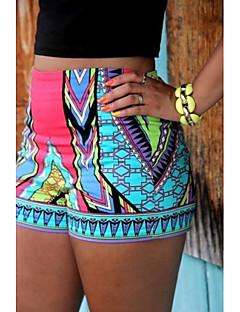 Mini KVINNOR Shorts ( Bomull )med Mellanhög midja i Strand / Casual stil